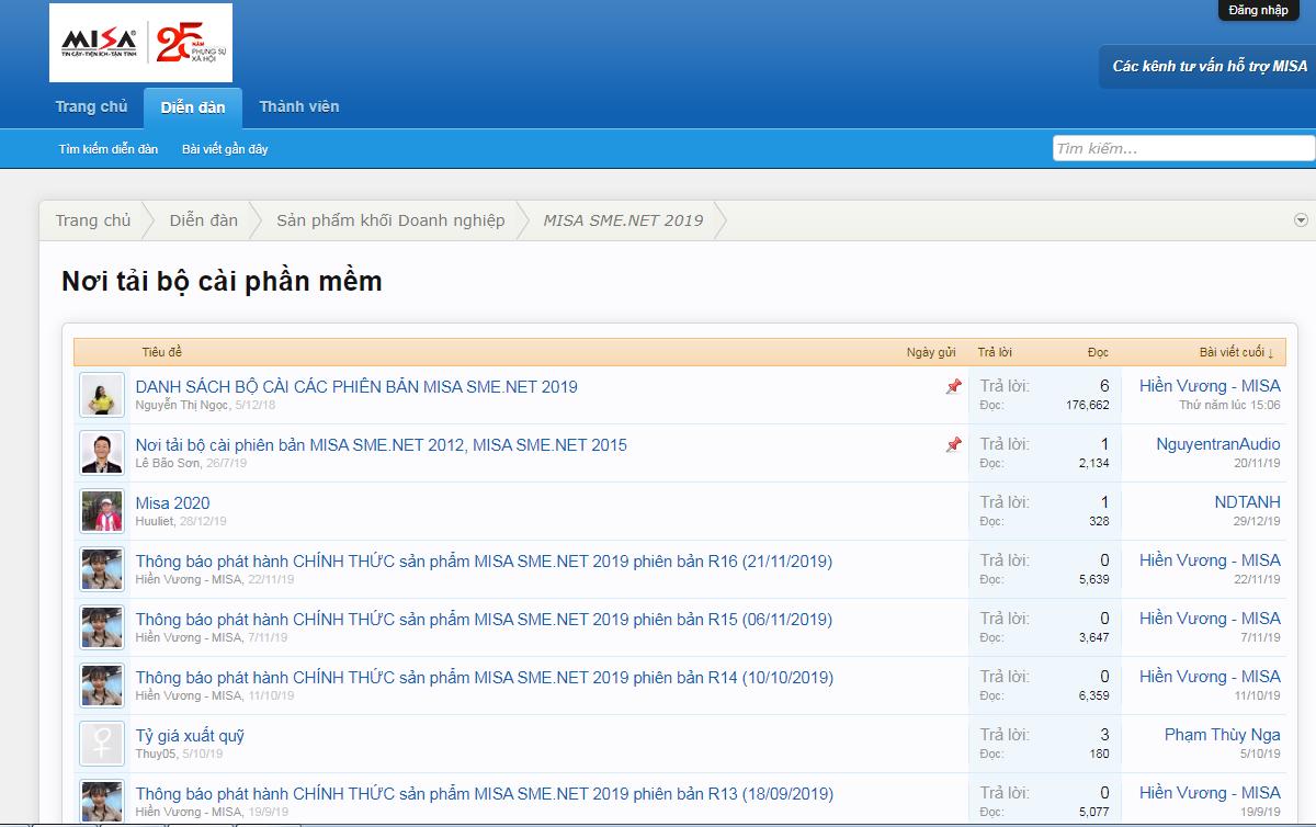 Download phần mềm misa